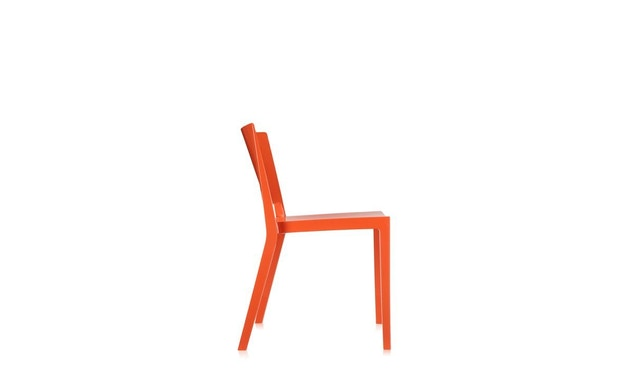 Kartell - Lizz stoel - hoogglans gelakt - oranjerood - 4