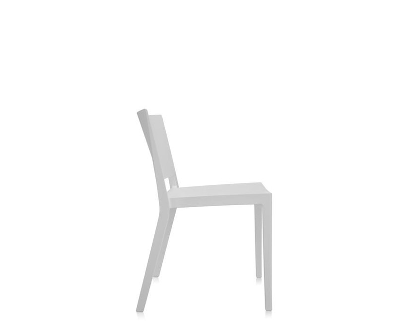 Kartell - Lizz Mat Stuhl - matt gefärbt - weiß - 3