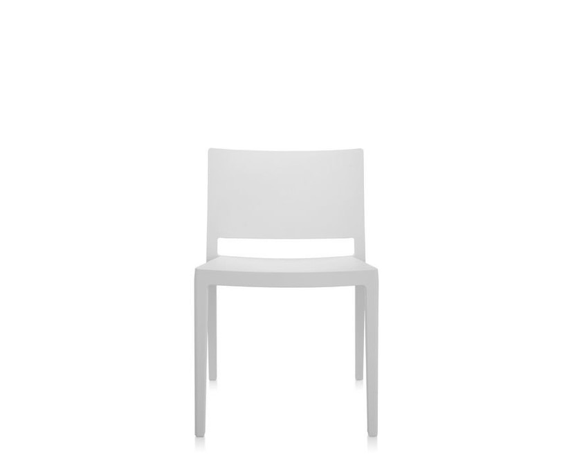 Kartell - Lizz Mat Stuhl - matt gefärbt - weiß - 5