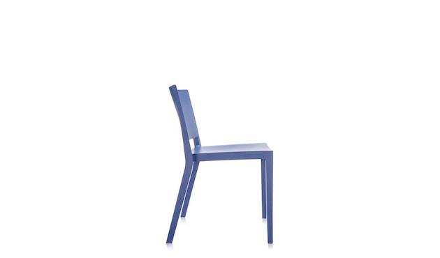Kartell - Lizz Mat Stuhl - matt gefärbt - blau - 2