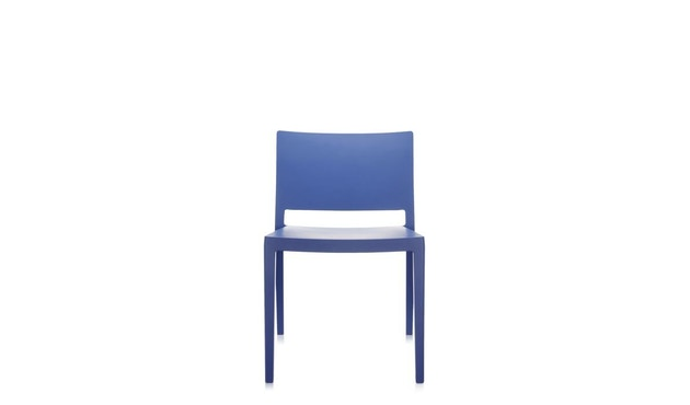 Kartell - Lizz Mat Stuhl - matt gefärbt - blau - 3