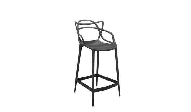 Kartell - Masters stool - S  schwarz - 4