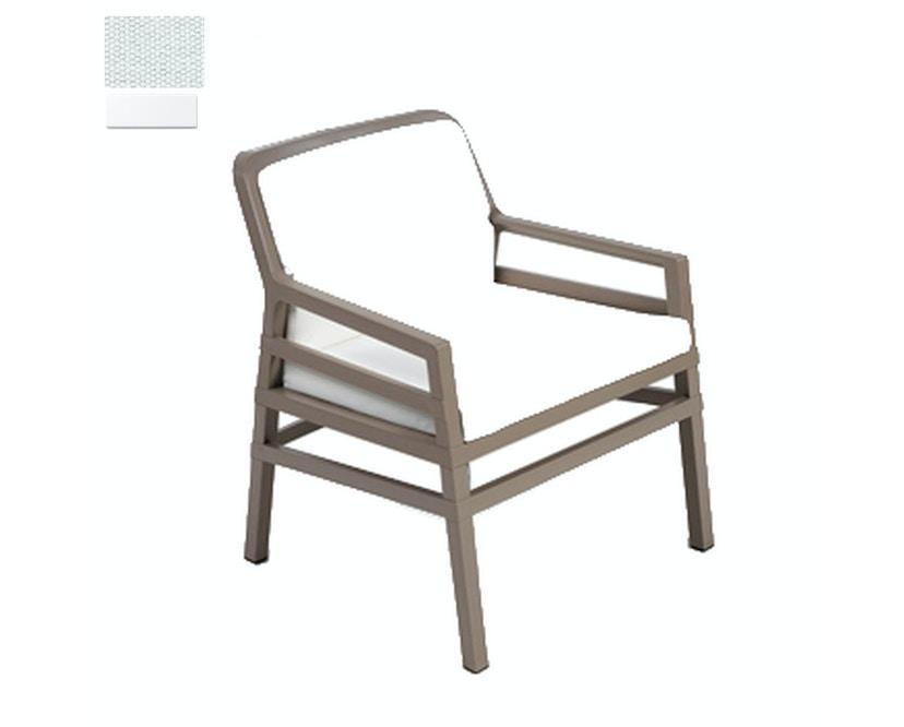 Nardi - Aria Fit Outdoor Lounge Stuhl - weiß/weiß - 1