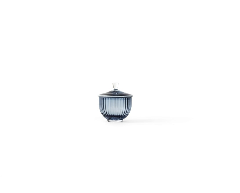 Lyngby Porcelæn - Lyngby Glas-Bonbonniere - middernachtblauw - Ø10 cm - 1