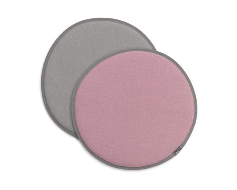 Vitra - Sitzkissen Seat Dots Update - pink/sierragrau - lichtgrau /sierragrau - 1