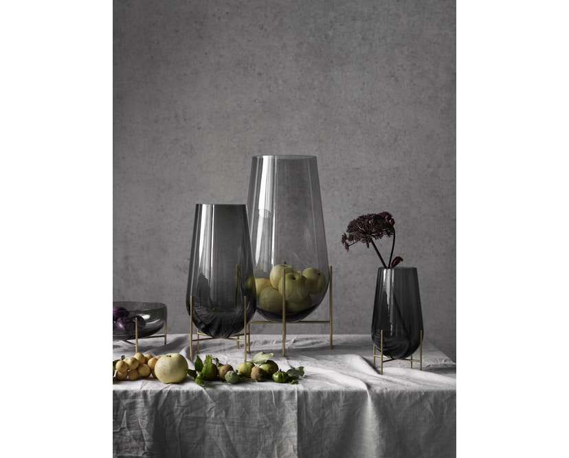 Menu - Echasse Vase - S - rauchglas - 4