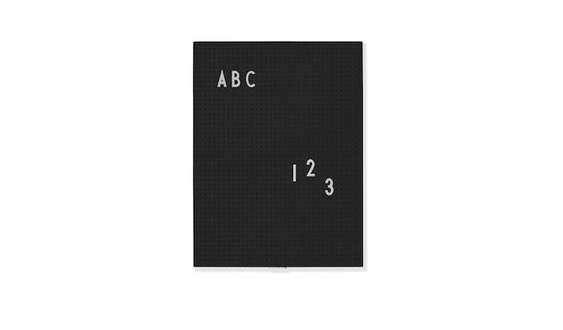 DESIGN LETTERS - Message Tafel - A4 - schwarz - 1