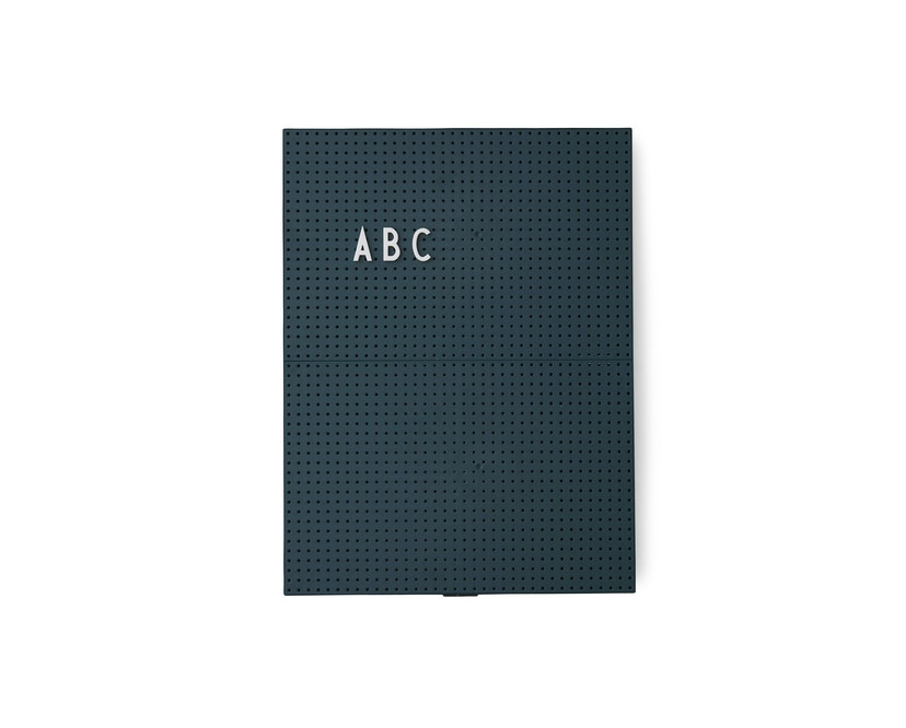DESIGN LETTERS - Tableau Message  - vert foncé - A4 - 1