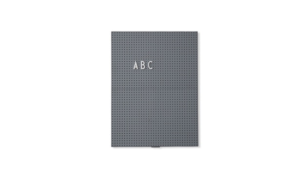 DESIGN LETTERS - Message Tafel - A4 - dunkelgrau - 1