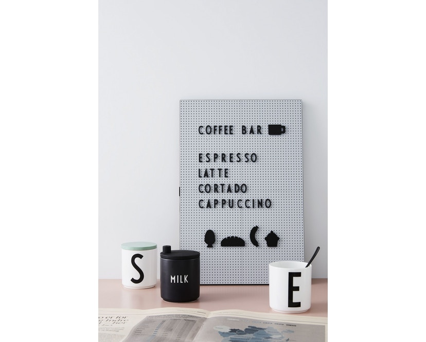 DESIGN LETTERS - Message bord - donkergroen - A4 - 5