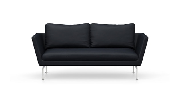 Vitra - Suita 2-Sitzer Sofa - Rückenkissen Classic - Gestell Aluminium poliert - Olimpo 11 atlantic - 1