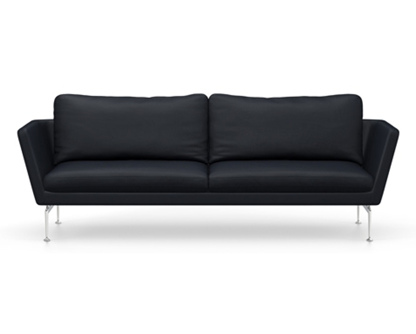 Vitra - Suita 3-Sitzer Sofa - Rückenkissen Classic - Gestell Aluminium poliert - Olimpo 11 atlantic - 1