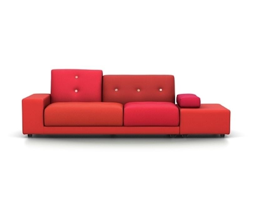 Vitra - Polder Sofa - Armlehne sitzend rechts - Stoffmix red - 1