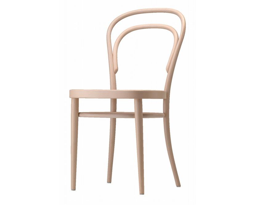 Thonet - 214/ 214 M stoel - geazureerd gebeitst - multiplex komzitting - 1