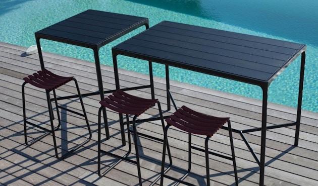 Houe - Four Outdoor Bar Tisch - Aluminium/schwarz - 90 x 90 cm - 2
