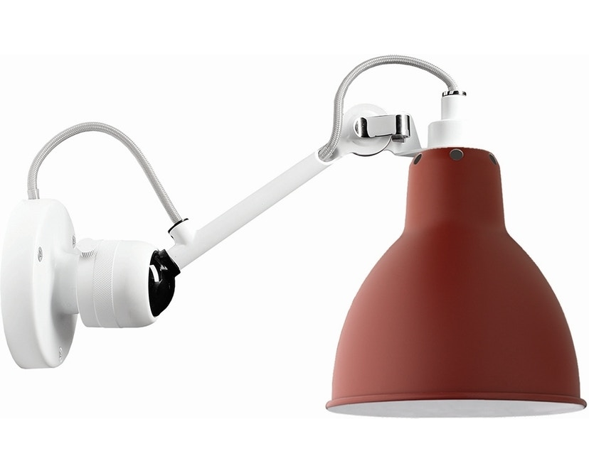 DCW éditions - LAMPE GRAS N°304 Wandleuchte weiß - rot - rund - 1