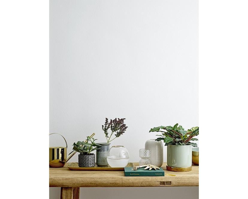 Bloomingville - Blumentopf mit Untertopf - Steinzeug - weiß - 2