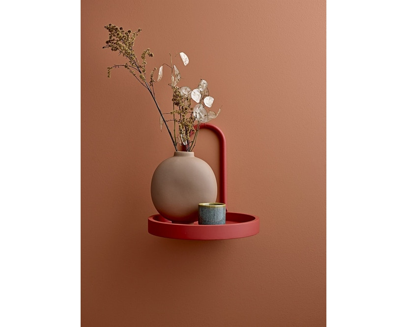 Bloomingville - Vase, Braun, Steingut - 2