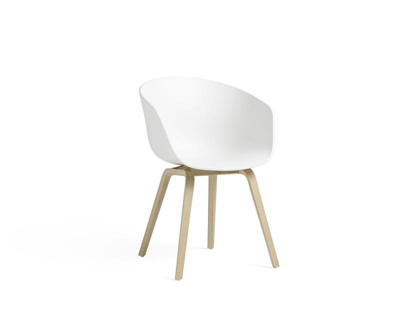HAY - About a Chair AAC 22 - weiß - Gestell Eiche matt lackiert - 1