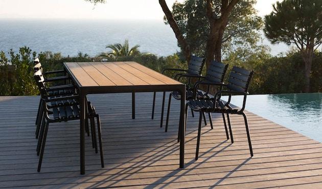 Houe - Four Outdoor Tisch -  Aluminium  - 90 x 90 cm - 3