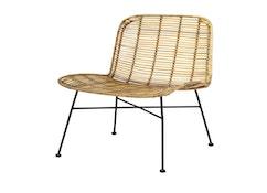 Bloomingville - Dom Chair, Natur mit Schwarz - 0