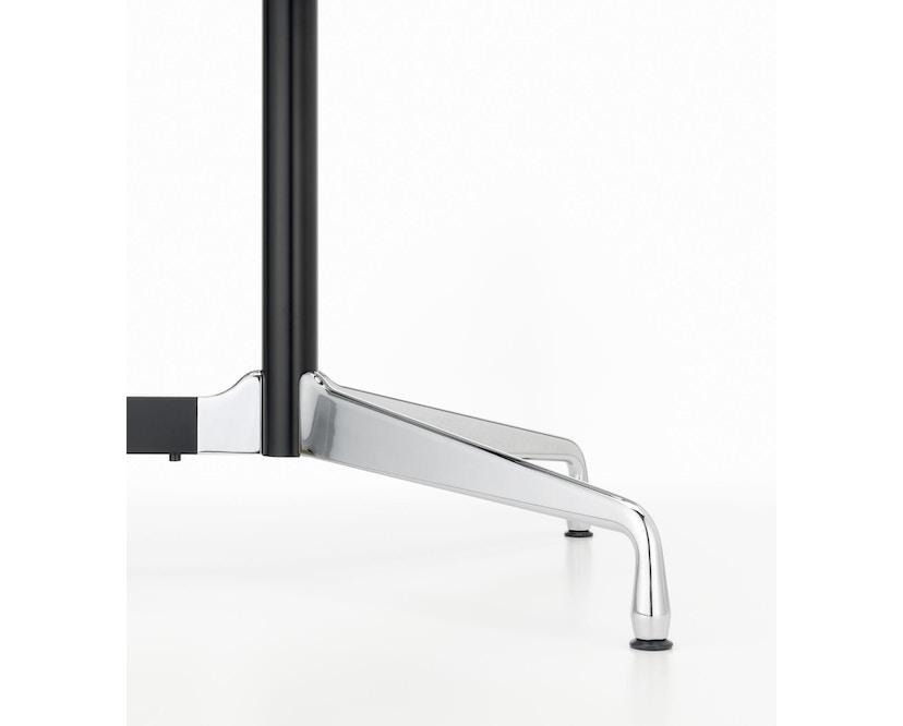 Vitra - Eames Segmented Table Meeting Bootsform 200 x 115 cm, Ausleger poliert, Standrohr basic dark - HPL weiß, Kunstoffkante schwarz - 4