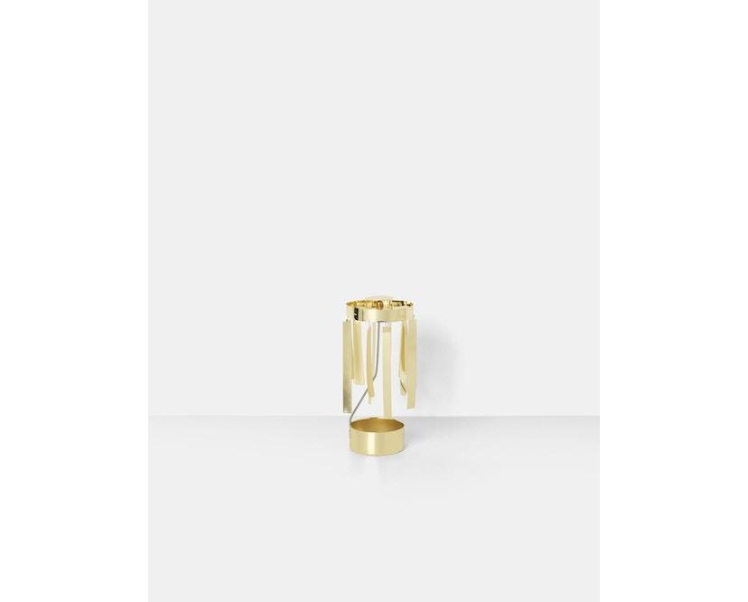 ferm LIVING - Tangle Spinning Teelichthalter - gold - 3