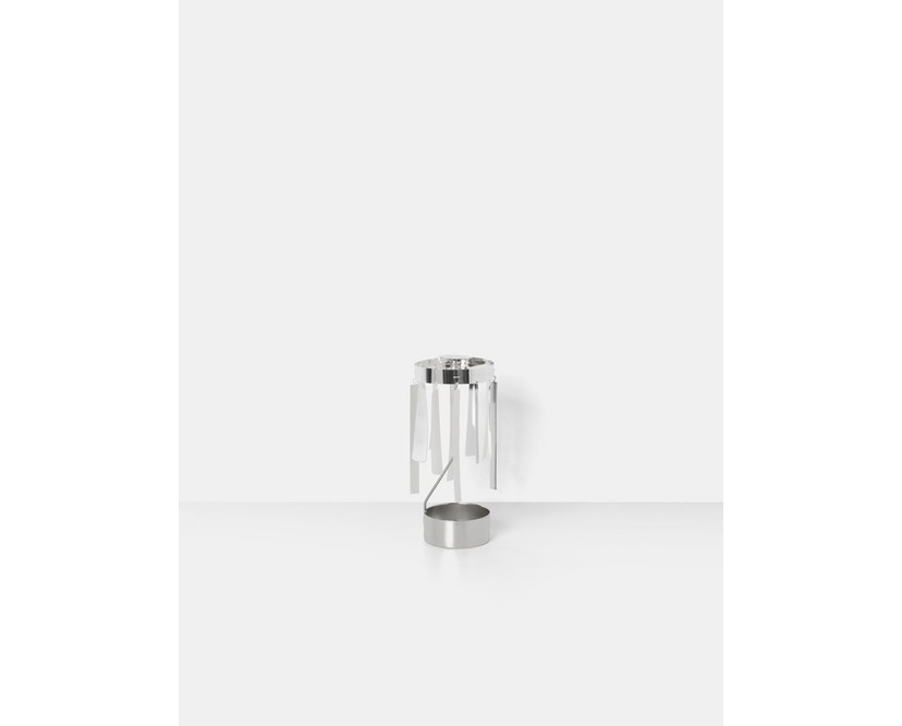 ferm LIVING - Tangle Spinning Teelichthalter - silber - 3