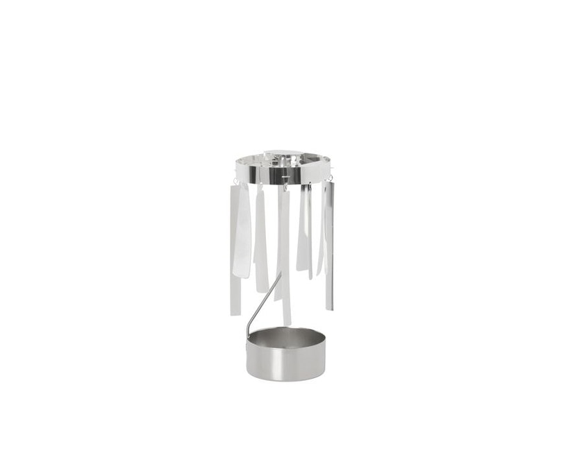 ferm LIVING - Tangle Spinning Teelichthalter - silber - 2