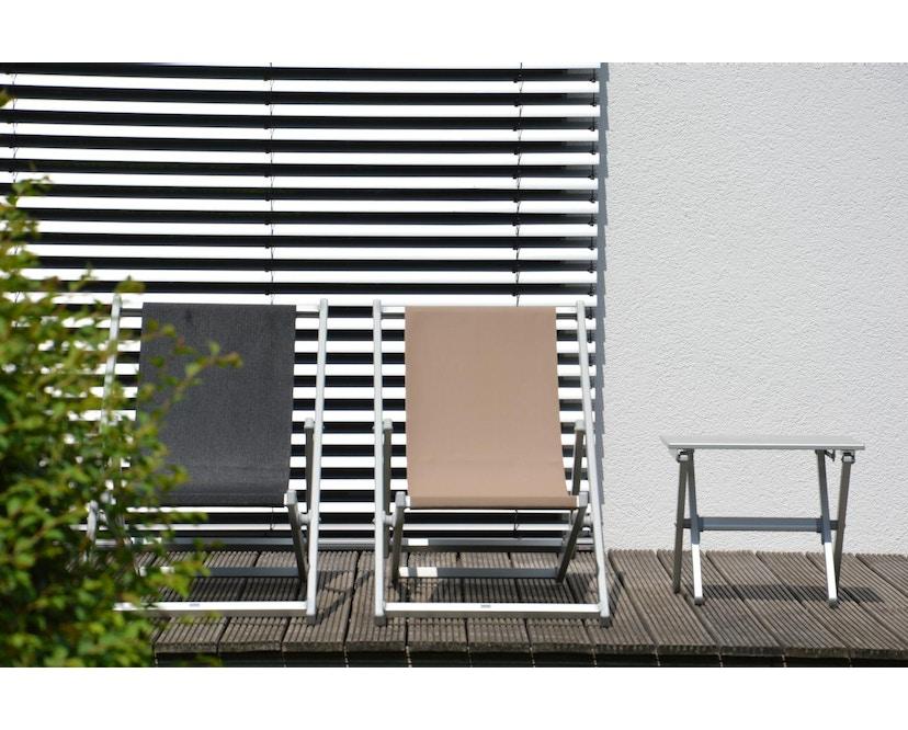 Jan Kurtz - Rimini Liegestuhl - Gestell eloxiert - taupe - 2
