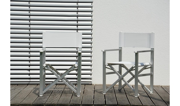 Jan Kurtz - Rimini Regiestuhl - Gestell eloxiert - weiß - 0