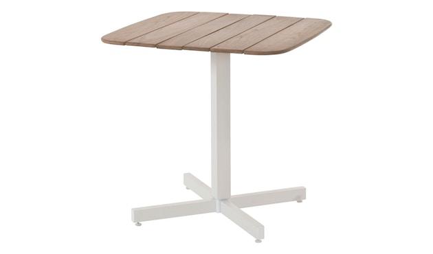 Emu - Shine Tisch - Teak - Gestell weiß - 3