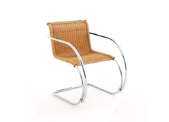 Knoll International - Chaise avec accoudoirs MR Side - Rotin - 3