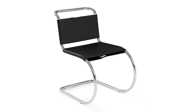Knoll International - MR Side Stuhl -  Black Cowhide - 1