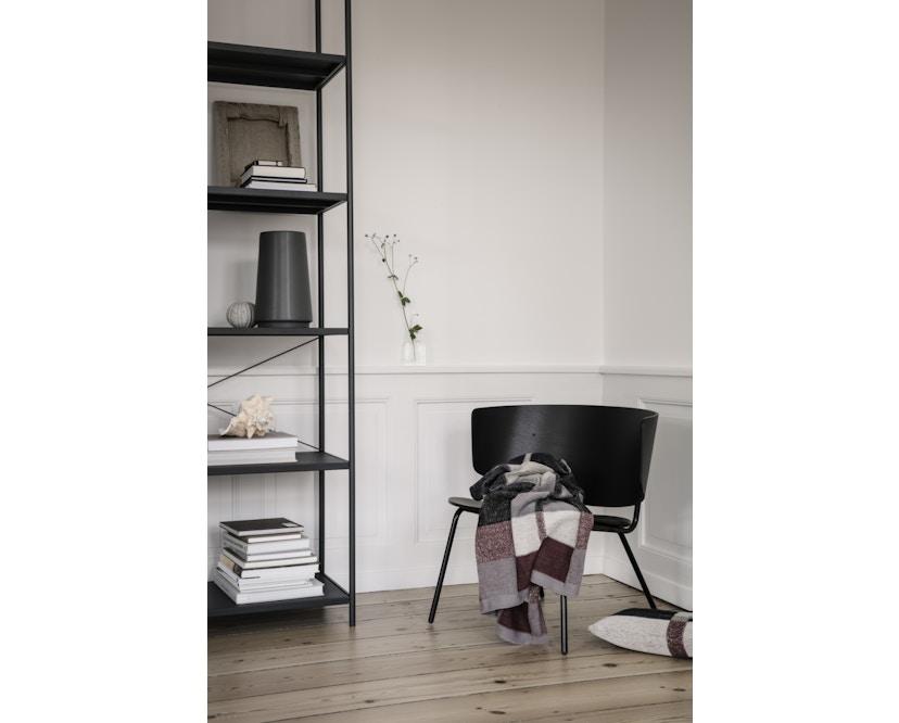 ferm LIVING - Herman Lounge Stuhl - schwarz/schwarz - 5