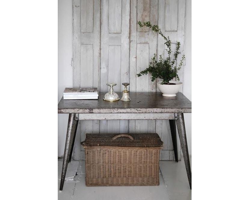 Tolix - 55 Tisch - quadratisch- klein - indoor - kaminrot - 2