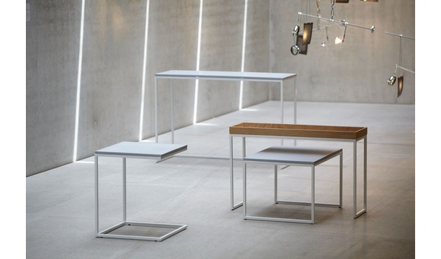 Jan Kurtz - Pizzo Konsolentisch - Esche weiß/silber - 100 x 70 x 34 cm - 3