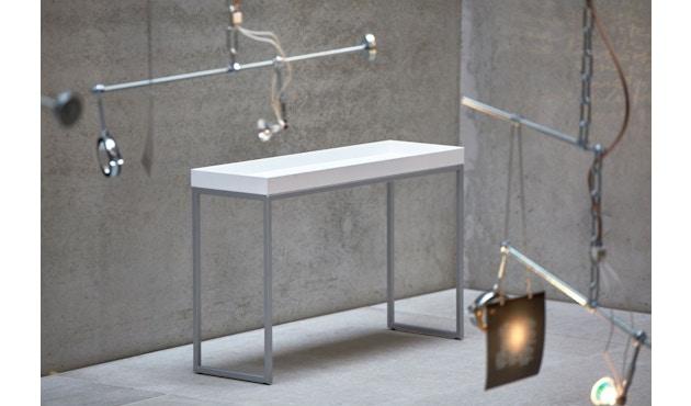 Jan Kurtz - Pizzo Konsolentisch - Esche weiß/silber - 100 x 70 x 34 cm - 4
