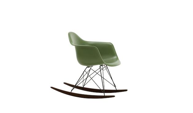 Vitra - Eames Plastic Armchair RAR mit Vollpolster, Gestell basic dark, Kufen Ahorn gelblich, Bezug nero - forest - 5