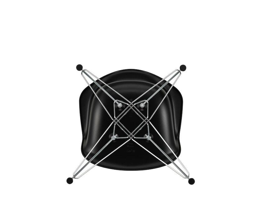 Vitra - DAR mit Sitzpolster - deep black - Bezug nero - Sitzhöhe 46 cm - 5