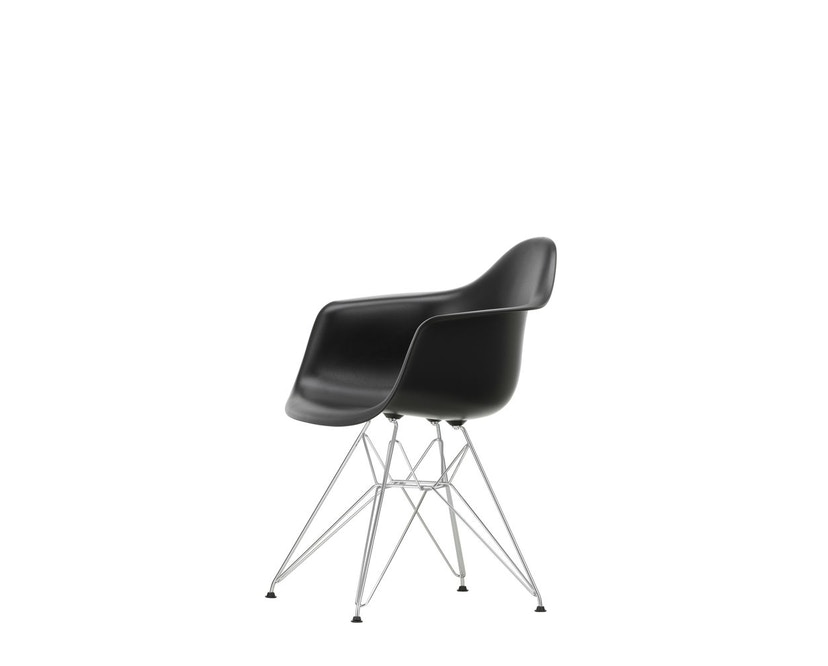 Vitra - DAR mit Sitzpolster - deep black - Bezug nero - Sitzhöhe 46 cm - 6