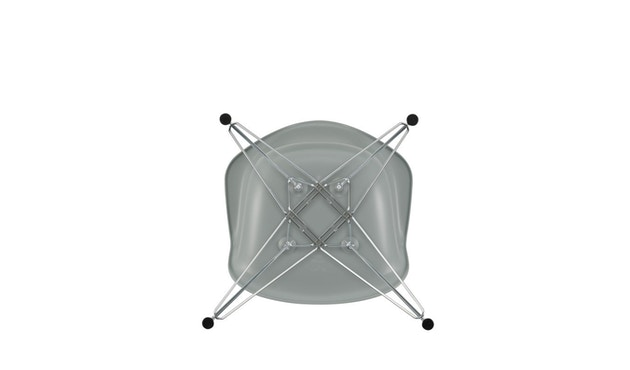 Vitra - DAR mit Sitzpolster - light grey - Bezug rot/cognac - Sitzhöhe 46 cm - 5