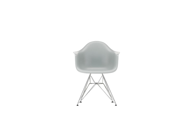 Vitra - DAR mit Sitzpolster - light grey - Bezug rot/cognac - Sitzhöhe 46 cm - 3