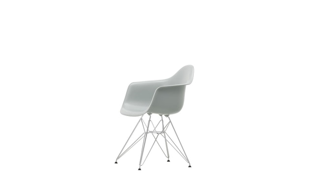Vitra - DAR mit Sitzpolster - light grey - Bezug rot/cognac - Sitzhöhe 46 cm - 6