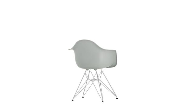 Vitra - DAR mit Sitzpolster - light grey - Bezug rot/cognac - Sitzhöhe 46 cm - 7