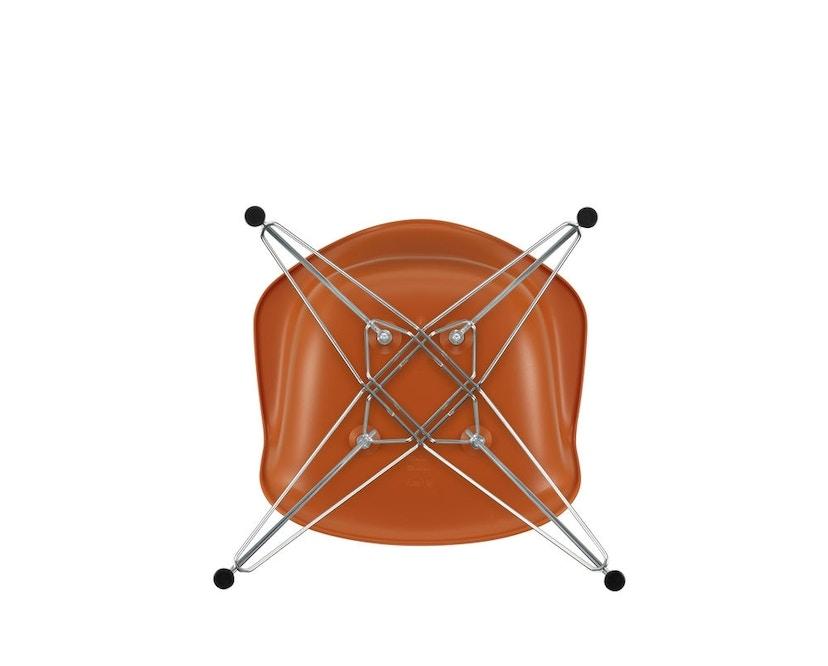 Vitra - DAR mit Sitzpolster - rusty orange - Bezug rot/cognac - Sitzhöhe 46 cm - 5