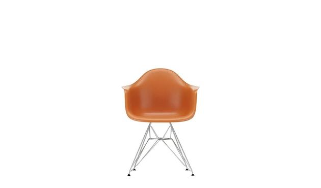 Vitra - DAR mit Sitzpolster - rusty orange - Bezug rot/cognac - Sitzhöhe 46 cm - 3