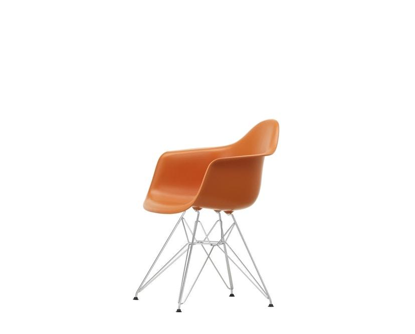 Vitra - DAR mit Sitzpolster - rusty orange - Bezug rot/cognac - Sitzhöhe 46 cm - 6
