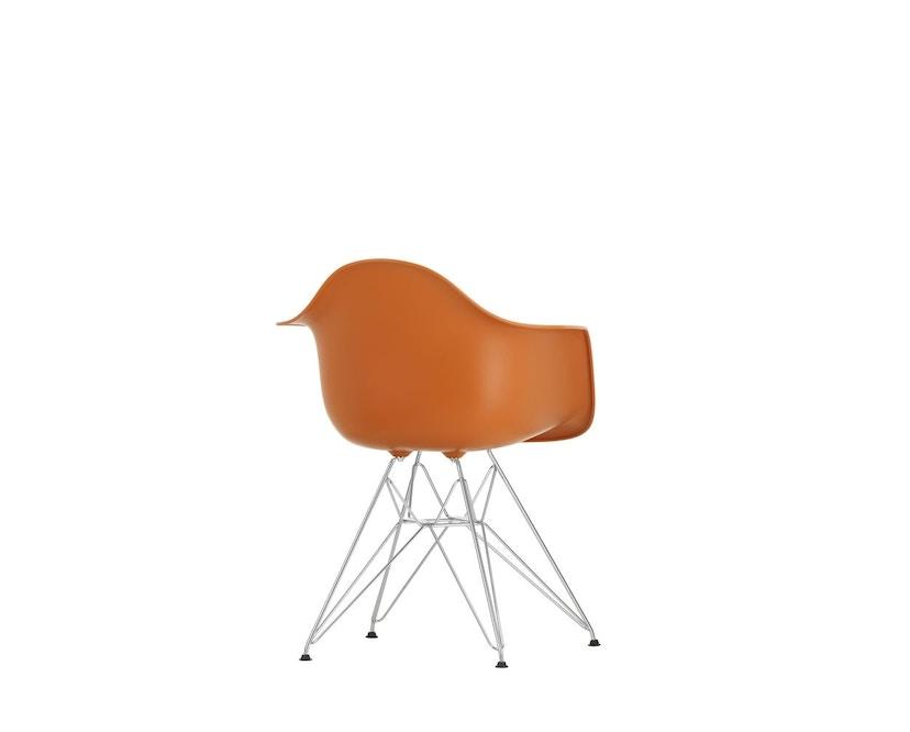 Vitra - DAR mit Sitzpolster - rusty orange - Bezug rot/cognac - Sitzhöhe 46 cm - 7