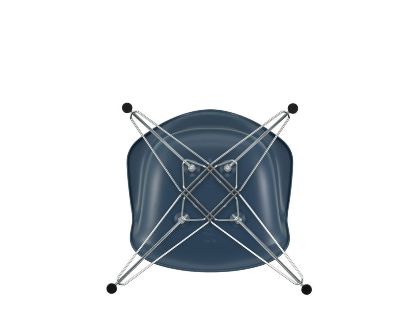 Vitra - DAR mit Sitzpolster - sea blue - Bezug dunkelgrau - Sitzhöhe 46 cm - 5